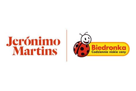 Logo Jeronimo i Biedronka poziome