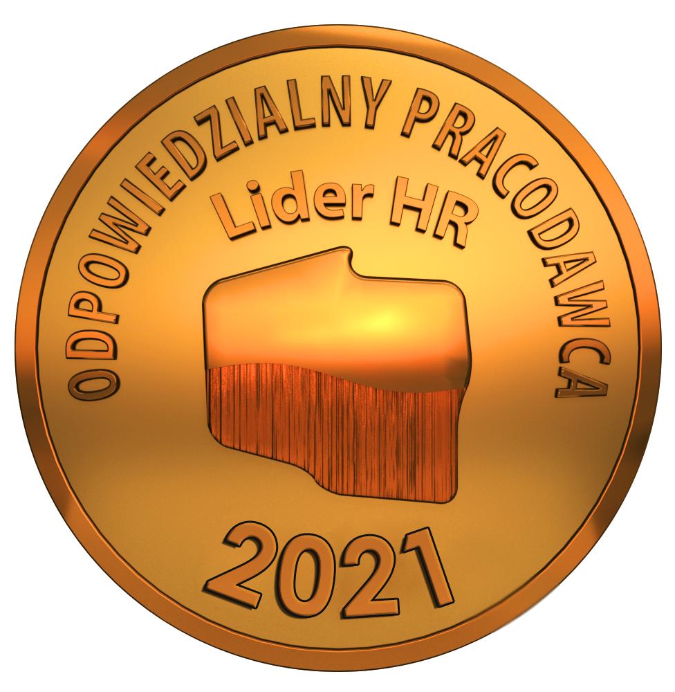 Logo nagrody odpowiedzialny pracodawca lider hr 2021