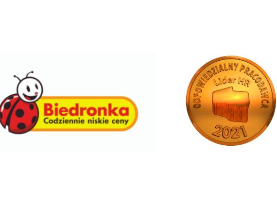 Logo biedronki i logo Odpowiedzialnego Pracodawcy