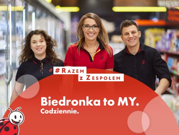 trzech pracowników biedronki - post na facebooka